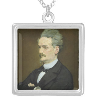 Manet | The Journalist Henri Rochefort , 1881 Silver Plated Necklace