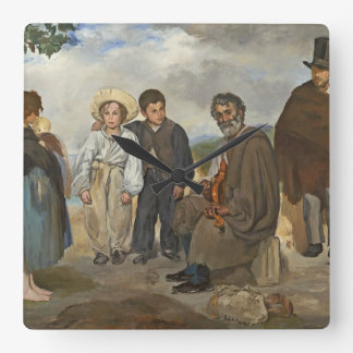 Manet | The Old Musician, 1862 Square Wall Clock