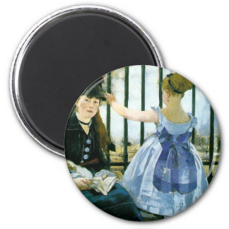 Manet: The Railroad 2 Inch Round Magnet