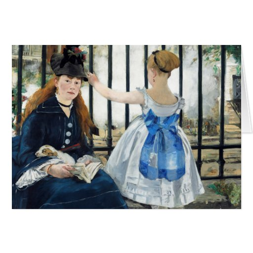 Manet The Railway Note Card
