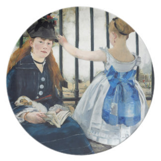 Manet The Railway Plate