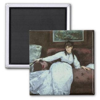 Manet | The Rest, portrait of Berthe Morisot 2 Inch Square Magnet