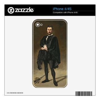 Manet | The Tragedian Actor (Rouviere as Hamlet) iPhone 4 Skins
