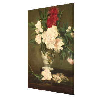 Manet | Vase of Peonies on a Small Pedestal, 1864 Canvas Print