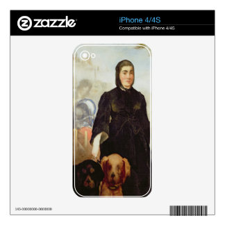 Manet | Woman With Dogs, 1858 Skin For iPhone 4S