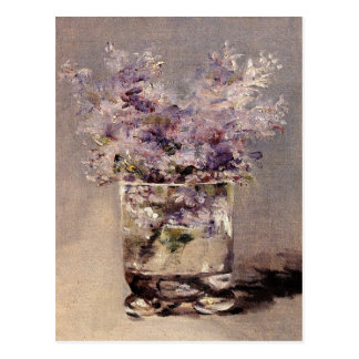 Manet's Lilacs in a Glass Postcard