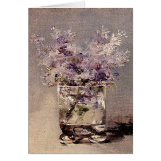 Manet's Lilacs in a Glass - Sympathy Card
