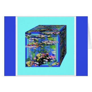 manet's Water Lily garden Box By Shaples Greeting Card