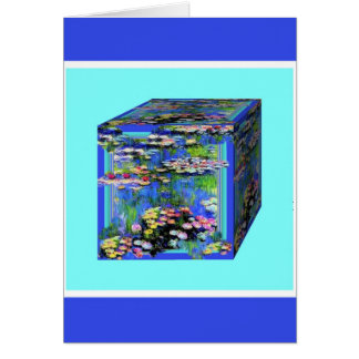 manet's Water Lily garden Box By Shaples Greeting Cards