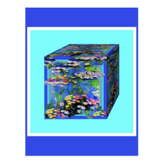 manet's Water Lily garden Box By Shaples Postcards