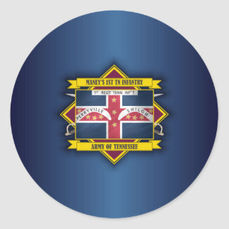 Maney's 1st Tennessee Infantry Classic Round Sticker