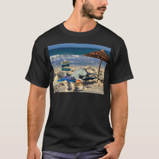 Manfred the Manatee at the Beach T-Shirt