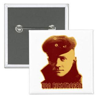 Manfred Von Richthofen - color Pinback Buttons