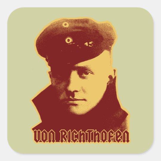 Manfred Von Richthofen - color Square Sticker