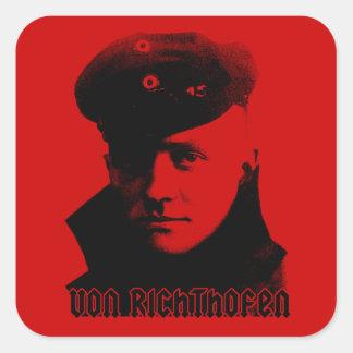 Manfred Von Richthofen Pegatina Cuadrada