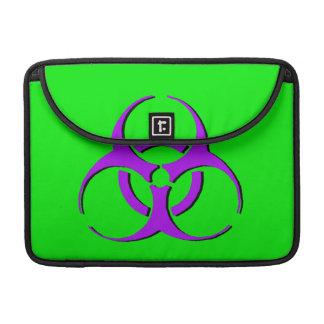 "Manga 13"" de Macbook del Biohazard - verde negro p Fundas Para Macbook Pro"