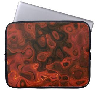 Manga abstracta rojo oscuro del ordenador portátil fundas portátiles