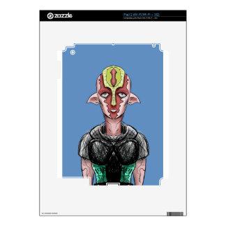 Manga Alien Elf With Sad Eyes. Decals For iPad 2