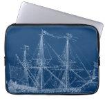 Manga alta azul del modelo del velero manga computadora