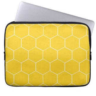 Manga amarilla del ordenador portátil de los funda computadora