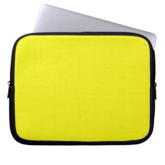 Manga amarilla del ordenador portátil fundas ordendadores