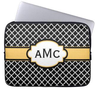 Manga amarilla negra del ordenador portátil del mo mangas portátiles