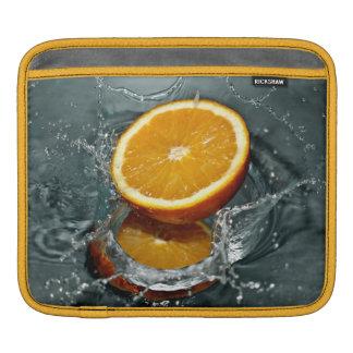 Manga anaranjada del iPad del chapoteo Funda Para iPads