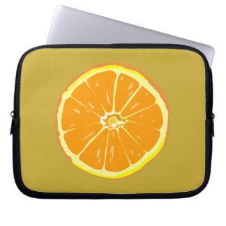Manga anaranjada del ordenador portátil de la reba mangas computadora
