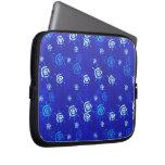 Manga azul abstracta elegante fresca del ordenador fundas ordendadores
