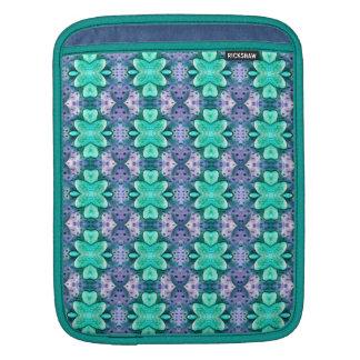 manga azul claro bonita de IPad de la flor del lun Funda Para iPads