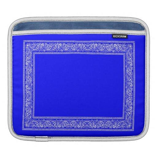 Manga azul del iPad del pañuelo de Paisley Fundas Para iPads