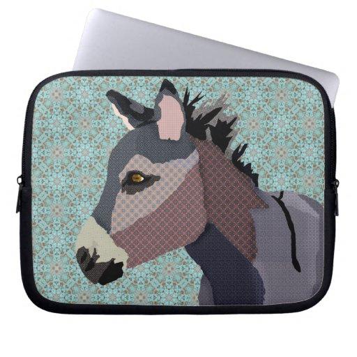 Manga azul del ordenador del burro del gris mangas computadora