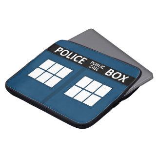 Manga azul del ordenador portátil de la caja de po mangas portátiles