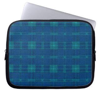 Manga azul del ordenador portátil de la tela mangas portátiles