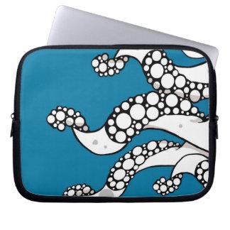 Manga (azul) del ordenador portátil de los tentácu fundas portátiles