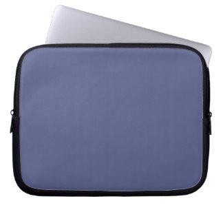 Manga azul del ordenador portátil del país funda ordendadores