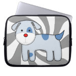 Manga azul del ordenador portátil del perrito del  fundas portátiles