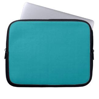 Manga azul del ordenador portátil del trullo de la funda computadora