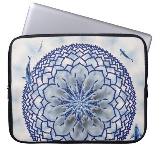 Manga azul del viaje del ordenador portátil de la  mangas computadora