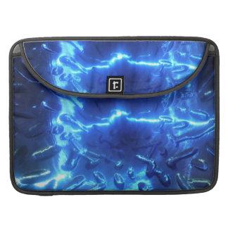 Manga azul eléctrica de la aleta del carrito funda para macbook pro