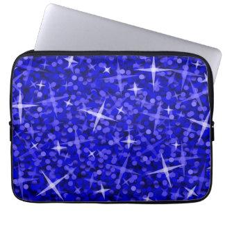 Manga azul marino del ordenador portátil del Glitz Fundas Ordendadores