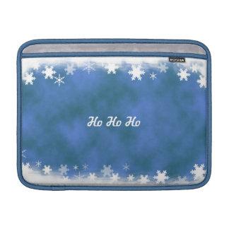 Manga azul y blanca de MacBook del copo de nieve Fundas Macbook Air