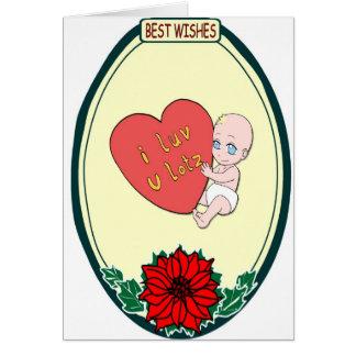 Manga baby, I love you Card