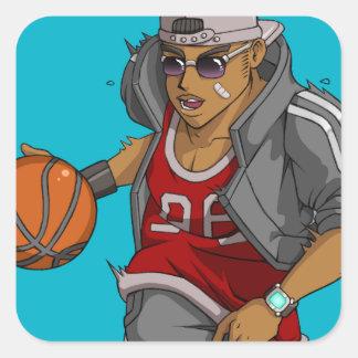 Manga Basketball player Square Sticker