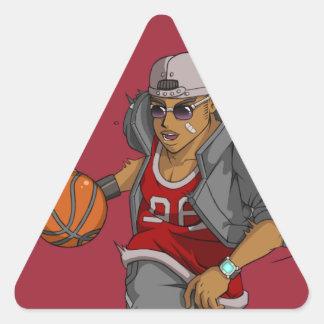 Manga Basketball player Triangle Sticker