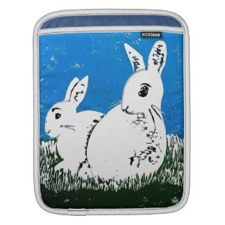 Manga blanca del iPad de los conejos Mangas De iPad