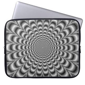 Manga blanco y negro del ordenador portátil del funda portátil