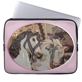 Manga bonita del ordenador portátil de los caballo funda ordendadores