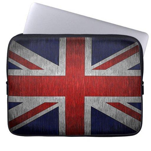 Manga británica del ordenador portátil del neopren funda ordendadores