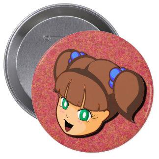 Manga Brown Girl Button